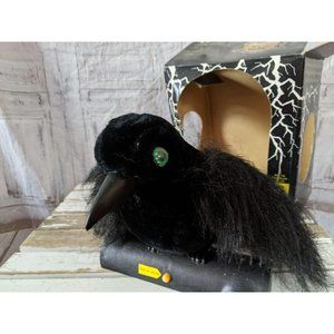 Gemmy Black Raven Halloween prop animated light so